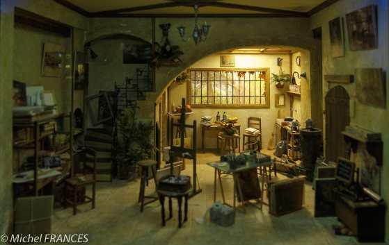 Musée du cinéma et des miniatures - françoise Andres - L'atelier du peintre