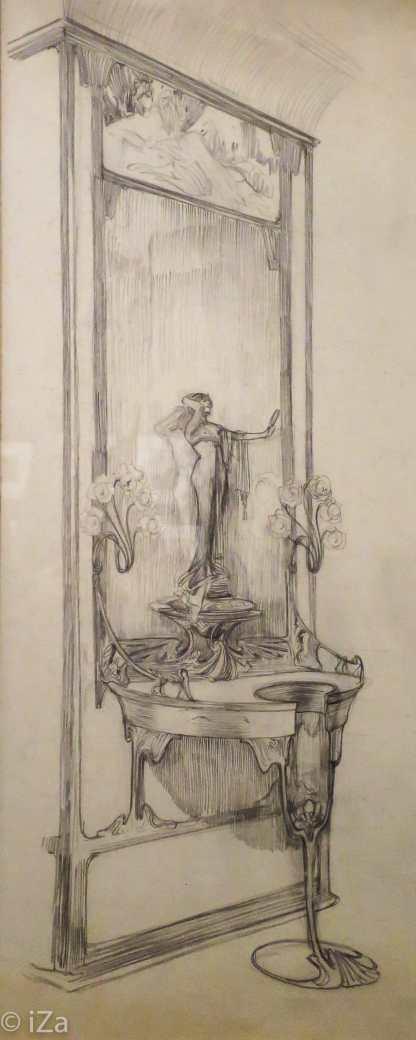 Musée du Luxembourg - Expo Mucha - dessins pour la bijouterie Fouquet