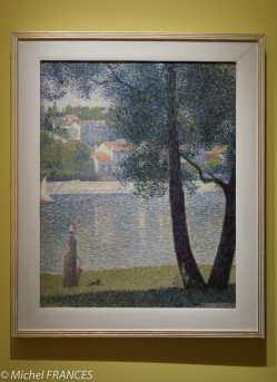 Georges Seurat - La Seine à Courbevoie - vers 1885