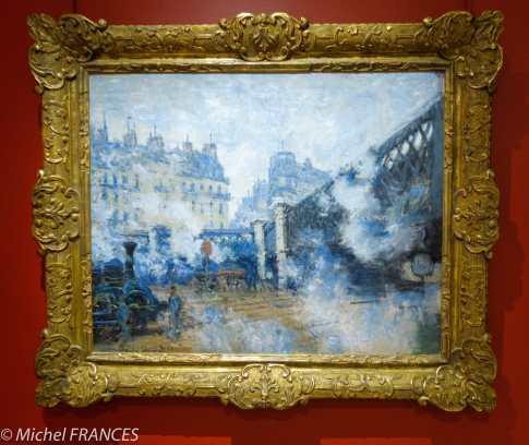 Marmottan Monet - Claude Monet - Le pont de l'Europe, gare St-Lazare - 1877