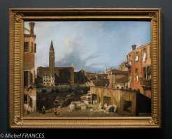 expo Éblouissante Venise - Gianantonio Canal dit Canaletto - Le Campo San Vidal et Santa Maria della Carita - vers 1725