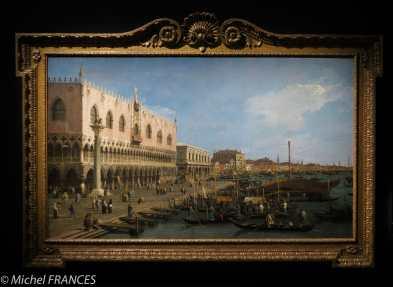 expo Éblouissante Venise - Gianantonnio Canal dit Canaletto - Vue du Palazzo Ducale en direction de la Riva degli Schiavoni - vers 1740