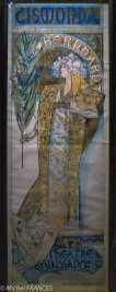 Musée du Luxembourg - Expo Mucha - L'affiche réalisée presque par hasard pour Gismonda, une pièce où jouait Sarah Bernhardt et qui lancera sa carrière