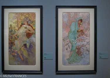 Musée du Luxembourg - Expo Mucha - Série des saisons, l'automne et l'hiver