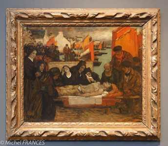 Musée beaux-arts de Brest - Charles Cottet - Les victimes de la mer - 1908-1909 - huile sur carton