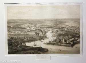 Musée beaux-arts de Brest - Alfred Guesdon - Brest, vue générale du port prise de la rade - vers 1850