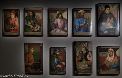 expo Collection Campana - Juste de Gand et Pedro Berruguete - Les hommes illustres - bois - 1473-1475
