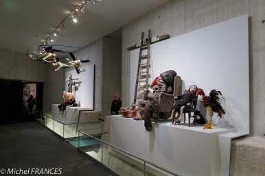 Orangerie - expo Paula Rego - reconstitution des scènes de son atelier
