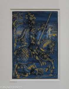 expo Gravure en clair-obscur - Lucas Cranach l'Ancien - Saint Georges et le dragon -