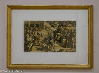 expo Gravure en clair-obscur - Antonio de Trento d'après Parmigianino - Le martyre des deux saints
