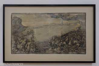 expo Gravure en clair-obscur - Andrea Andreani d'après Tiziano Vecellino dit Titien - L'armé de Pharaon submergée par la Mer Rouge