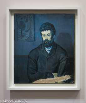 musée d'Orsay, exposition Picasso rose et bleu - Portrait d'homme - 1902-1903