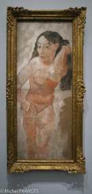 musée d'Orsay, exposition Picasso rose et bleu - femme au peigne - 1906