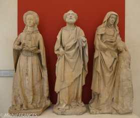 Jean Guilhomet dit Jean de Chartres - Sainte Anne éduquant la Vierge ; saint Pierre ; sainte Suzanne - entre 1500 et 1503