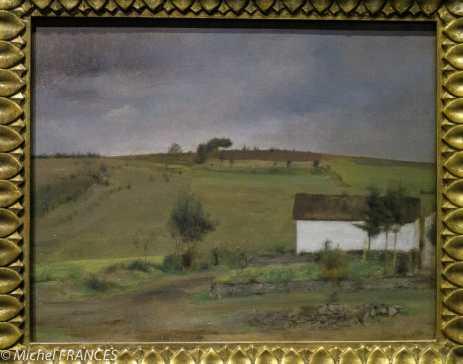 exposition Fernand Khnopff - À Fosset. De la pluie - 1886