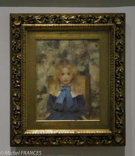 exposition Fernand Khnopff - Mademoiselle Van der Hecht - 1883