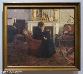 exposition Fernand Khnopff - En écoutant du Schuman - vers 1883