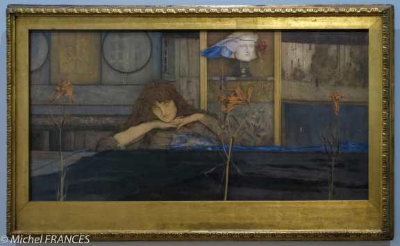 exposition Fernand Khnopff - I lock my door upon myself - 1891