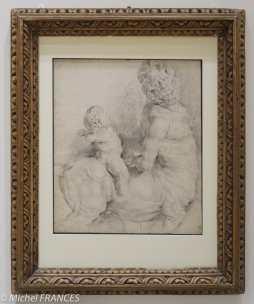 Fondation Custodia - expo 500 dessins musée Pouchkine - Pierre-Paul Rubens - Centaure vaincu par l'Amour - 1605-1608