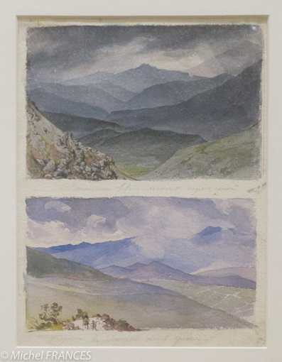 Fondation Custodia - expo 500 dessins musée Pouchkine - Karl Brioullov - Vallée d'Ithôme avant l'orage - Chemin de Sinano après l'orage - 1835