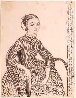Fondation Custodia - expo 500 dessins musée Pouchkine - Vincent van Gogh - portrait d'une jeune fille (la Mousmé) - 1888