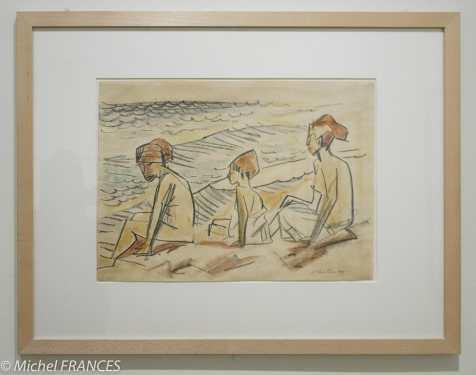 Fondation Custodia - expo 500 dessins musée Pouchkine - Max Pechsyein - Au bord de la mer - 1919