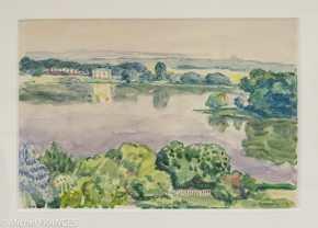 Fondation Custodia - expo 500 dessins musée Pouchkine - Albert Marquet - Paysage à la rivière