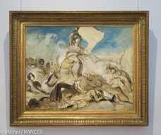 musée Delacroix - expo Delacroix et Eugène - Étude pour La Liberté guidant le peuple