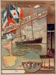 Titre : Compagnie des bateaux à hélices du Nord... Dunkerque : [affiche] / [F. Hugo d'Alési] Auteur : Hugo d'Alési, F. (1849-1906). Illustrateur Auteur : Ateliers Hugo d'Alési. Illustrateur Éditeur : [s.n.] Éditeur : [Imp. F. H. d'Alesi] ([Paris]) Date d'édition : 1891 Sujet : Transports maritimes -- Publicité Sujet : Transports par eau Sujet : Tourisme Type : image fixe Type : estampe Langue : français Format : 1 est. : lithogr. en coul. ; 88 x 65 cm Format : image/jpeg Format : Nombre total de vues : 1 Description : Collection numérique : Fonds régional : Nord-Pas-de-Calais Description : Affiche Droits : domaine public Identifiant : ark:/12148/btv1b90044569 Source : Bibliothèque nationale de France, ENT DN-1 (HUGODALESI,F.)-FT6 Notice du catalogue : http://catalogue.bnf.fr/ark:/12148/cb39838370j Provenance : Bibliothèque nationale de France Date de mise en ligne : 07/03/2011