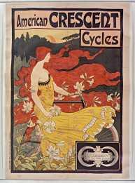Titre : American Crescent cycles... : [affiche] / [T. Ramsdell] Auteur : Ramsdell, Frederick Winthrop (1866-1915). Illustrateur Éditeur : [s.n.] Éditeur : [impr. Chaix (ateliers Chéret)] ([Paris]) Date d'édition : 1899 Sujet : Bicyclettes -- Publicité Sujet : Cycles et motocycles Type : image fixe Type : estampe Langue : français Format : 1 est. : lithogr. en coul. ; 159 x 108 cm Format : image/jpeg Format : Nombre total de vues : 1 Description : Affiche Droits : domaine public Identifiant : ark:/12148/btv1b9012402d Source : Bibliothèque nationale de France, ENT DO-1 (RAMSDELL,T.)-GRAND ROUL Notice du catalogue : http://catalogue.bnf.fr/ark:/12148/cb39840423k Provenance : Bibliothèque nationale de France Date de mise en ligne : 20/01/2019