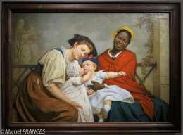 expo Le modèle noir - Jacques-Eugène Feyen - Le baiser enfantin - salon de 1865