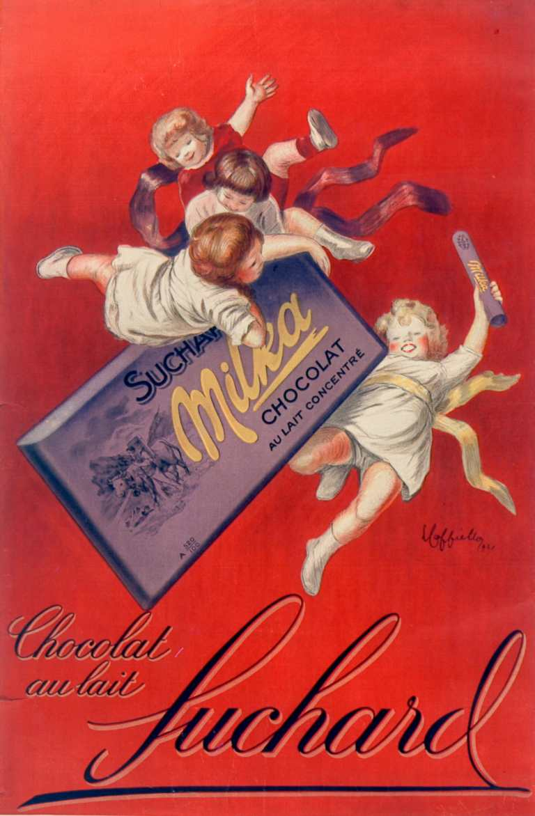 Titre :      Chocolat au lait Suchard : [affiche] / [Leonetto Cappiello]  Auteur :      Cappiello, Leonetto (1875-1942). Illustrateur  Éditeur :      [s.n.][s.n.]  Éditeur :      [impr. Devambez] ([Paris])  Date d'édition :      1925  Sujet :      Alimentation  Type :      image fixe  Type :      estampe  Langue :      français  Format :      1 est. : lithogr. en coul. ; 111 x 73 cm  Format :      image/jpeg  Format :      Nombre total de vues : 1  Description :      Affiche  Droits :      domaine public  Identifiant :      ark:/12148/btv1b9003875q  Source :      Bibliothèque nationale de France, ENT DN-1 (CAPPIELLO,Leonetto)-FT6  Notice du catalogue :      http://catalogue.bnf.fr/ark:/12148/cb398357222  Provenance :      Bibliothèque nationale de France  Date de mise en ligne :      07/03/2011