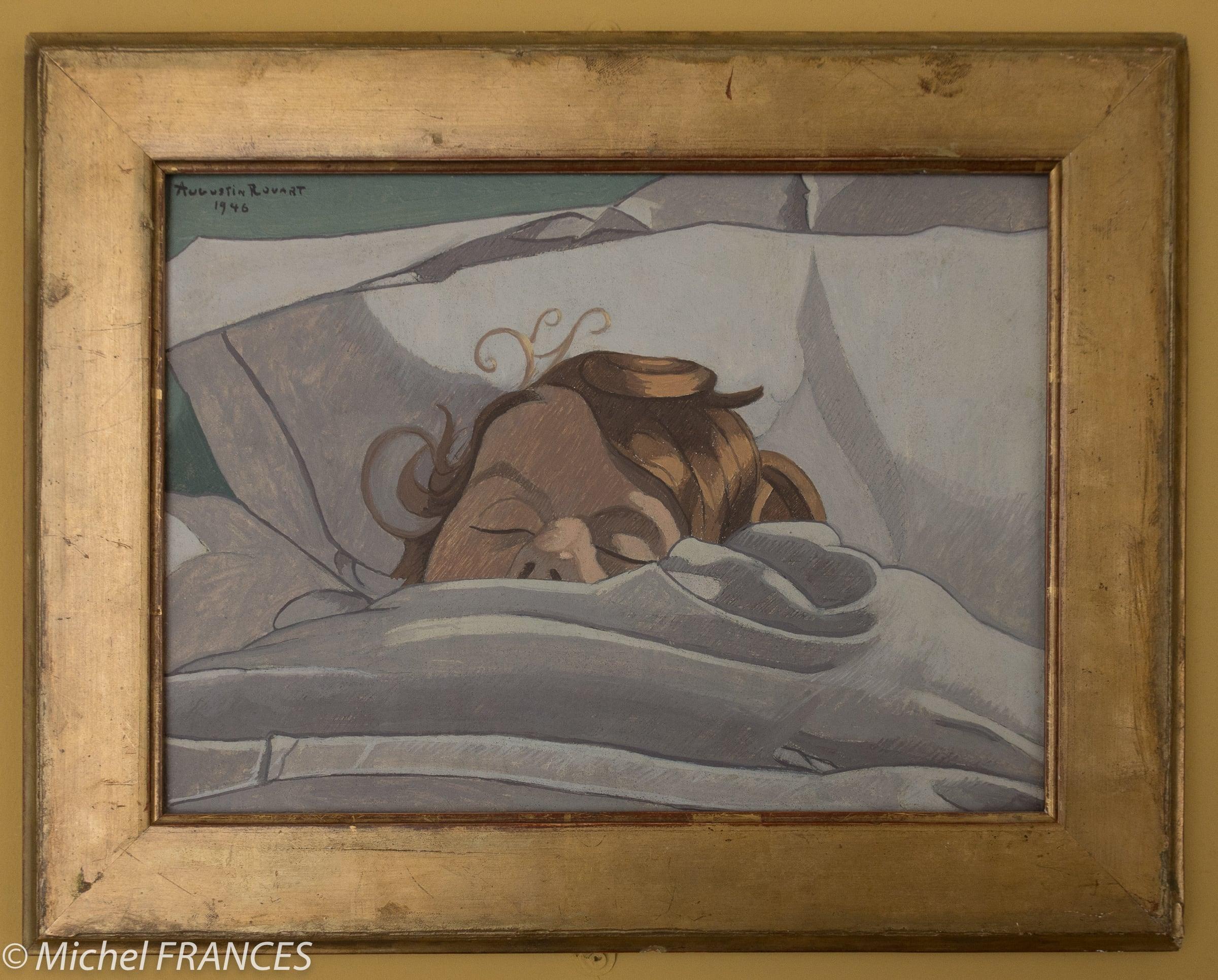 Accrochage Augustin Rouart – La peinture en héritage – Monogramme d'Augustin Rouard inspiré de celui d'Albrecht Dûrer