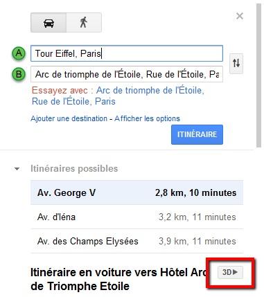 Comment activer le survol 3D de votre itinéraire sur Google Map ?