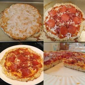 chicken crust pizza, low carb pizza, keto pizza, fat head pizza