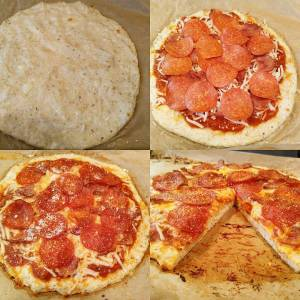 chicken crust pizza, low carb pizza, keto pizza, fat head pizza