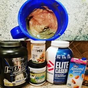 whey protein sludge