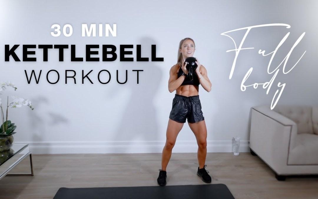 30 Min Full Body KETTLEBELL WORKOUT   Supersets