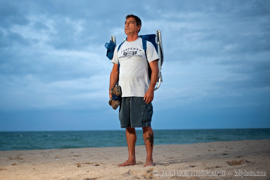 Portrait of Ken Medina, a member of S.T.O.P. (Sea Turtle Oversight Protection).