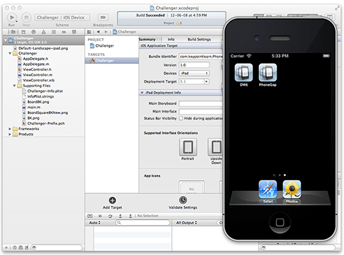 xCode iPhone Simulator