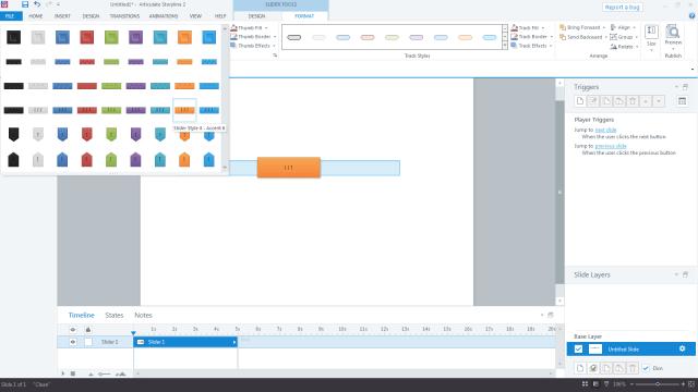 Storyline 2 Slider Controls: Style Selection Dialog