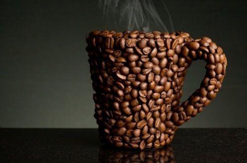 cana cafea boabe