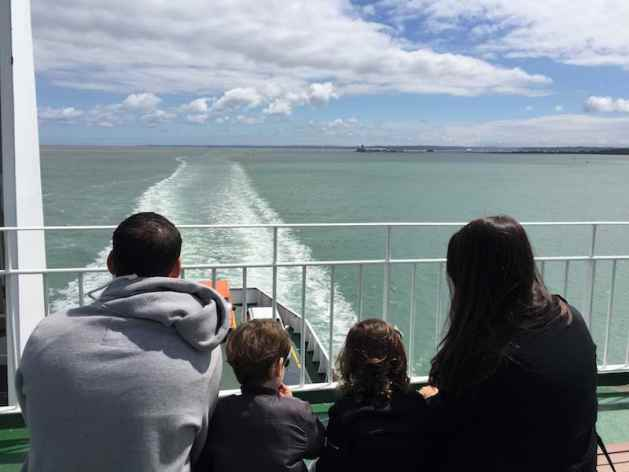 Family on Ferry to Isle of Wight