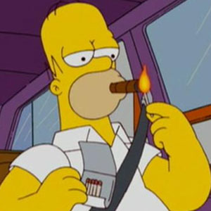 Homer Simpson Smoking A Cigar
