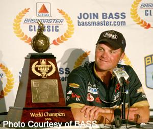 Luke Clasen at the 2006 CITGO Bassmaster Classic in Kissimmee, Florida.