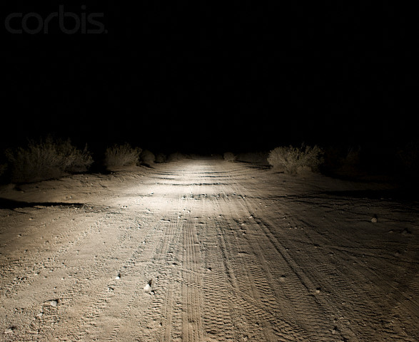 Dirt Road at Night