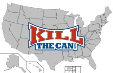 KillTheCan USA Map