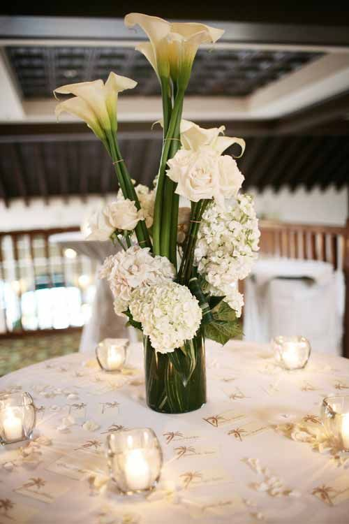 Elegant small wedding reception decorations