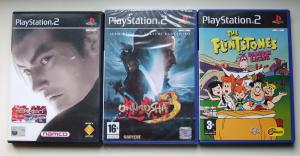 PS2 - Tekken Tag Tournament Onimusha 3 Flintstones Bedrock Racing