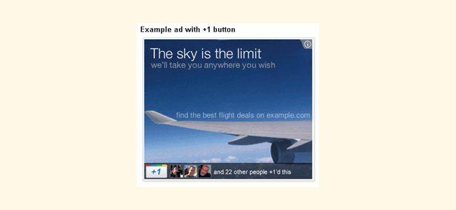 example ad with google plus